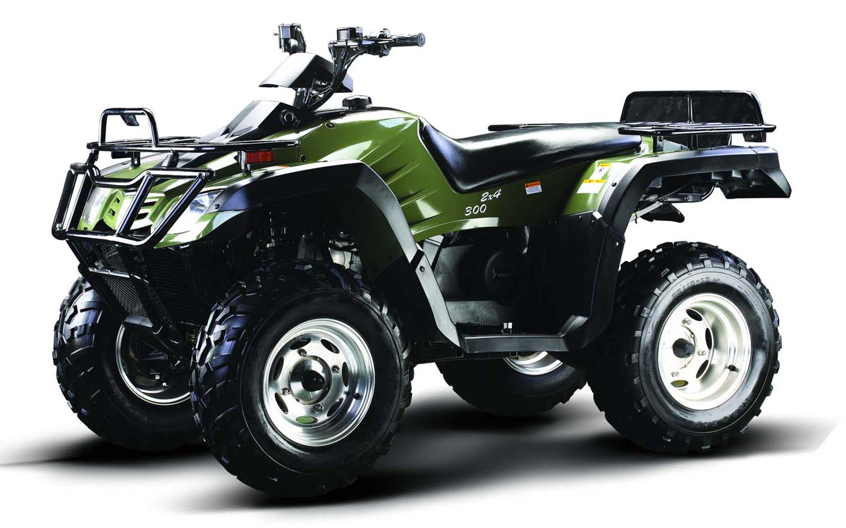300cc4x4ATVCrusher300FA-Green